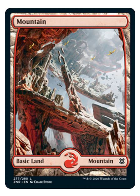 Mountain Full Art, Zendikar Rising (F)