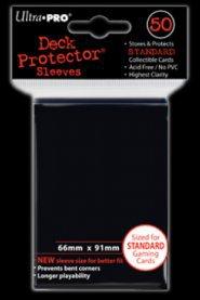 Koszulki (protektory) ultra pro czarne 50s
